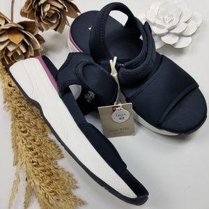NEW Zara - Blue Ankle Strap Sandals Sneaker 3.5